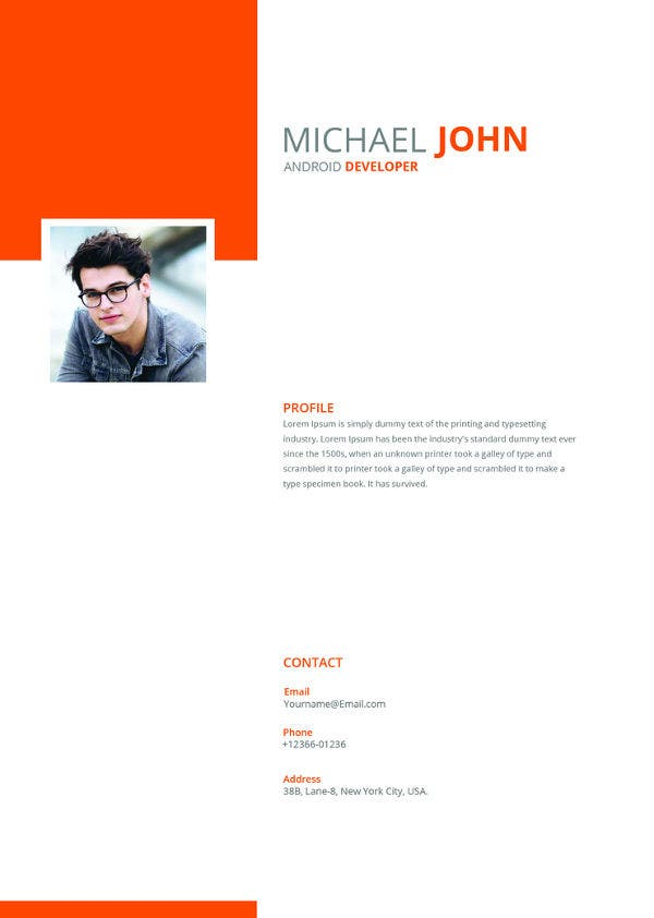 free-android-developer-resume-template