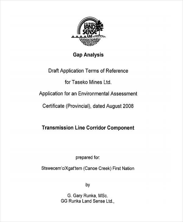 free application gap analysis