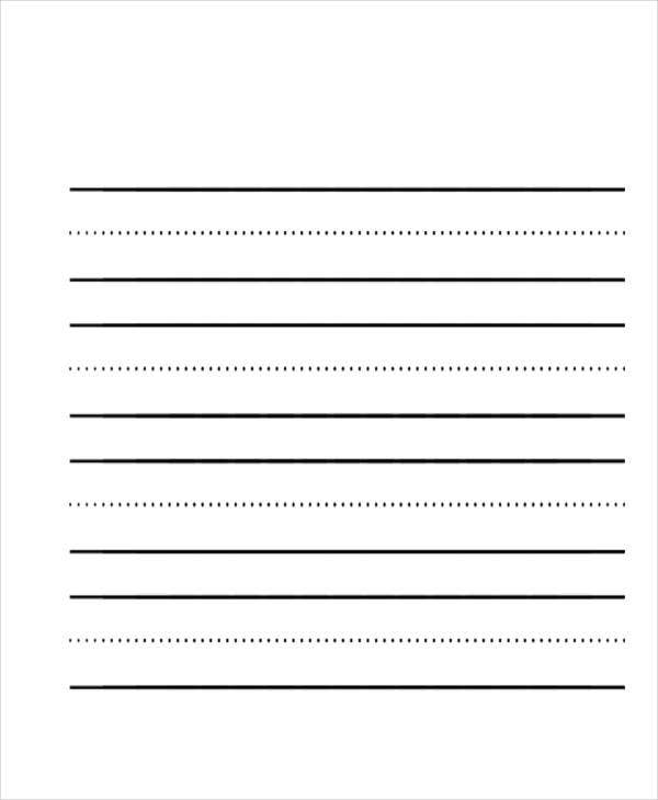 free blank lined paper