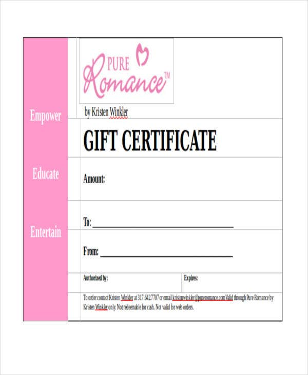 free gift certificate