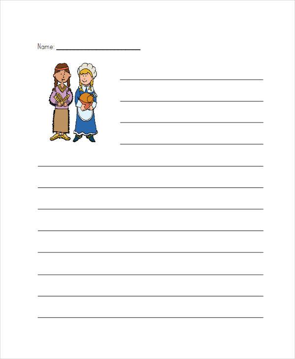 free kindergarten lined paper