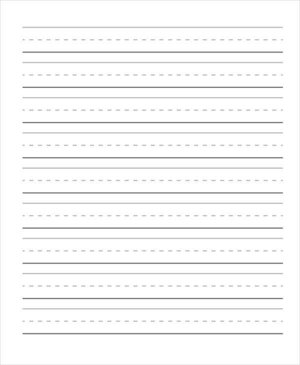 free lined handwriting paper
