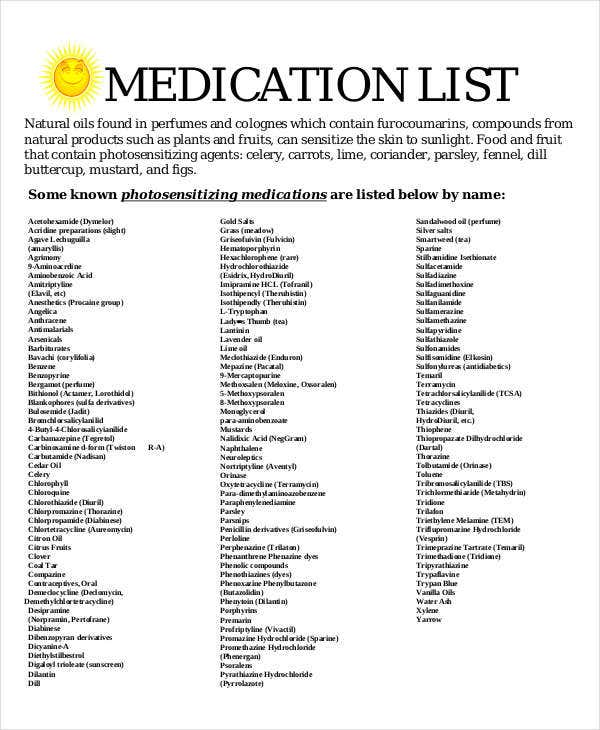 free medication list1