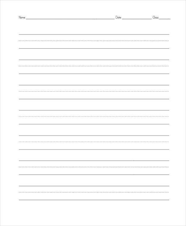 free primary lined paper