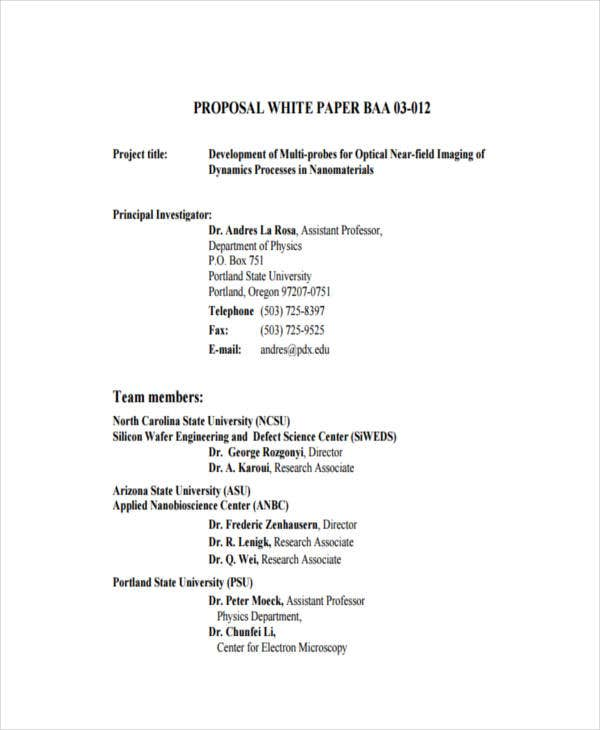 38 Sample White Paper Templates – Free White Paper Template