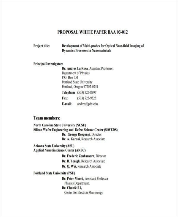 38 sample white paper templates free premium templates