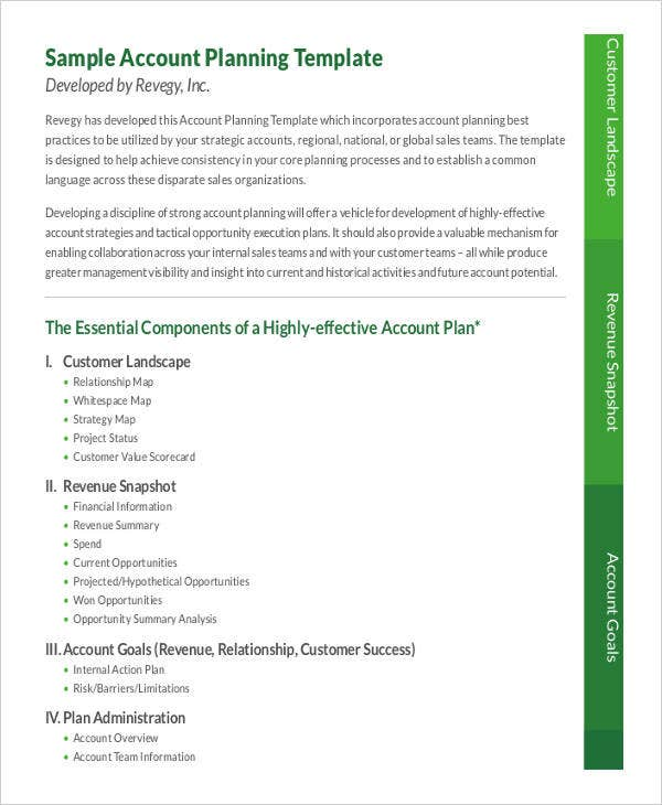 7  strategic account plan templates