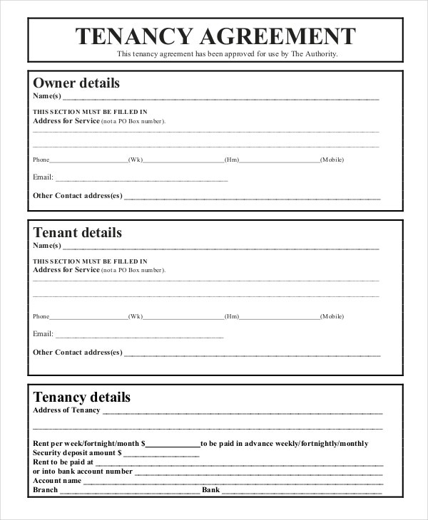 Uk Tenancy Agreement Template Free