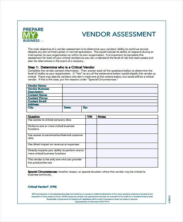 48+ Sample Assessment Forms | Free & Premium Templates