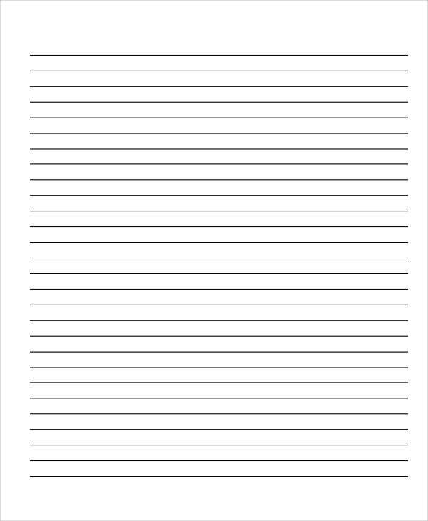 free wide lined paper