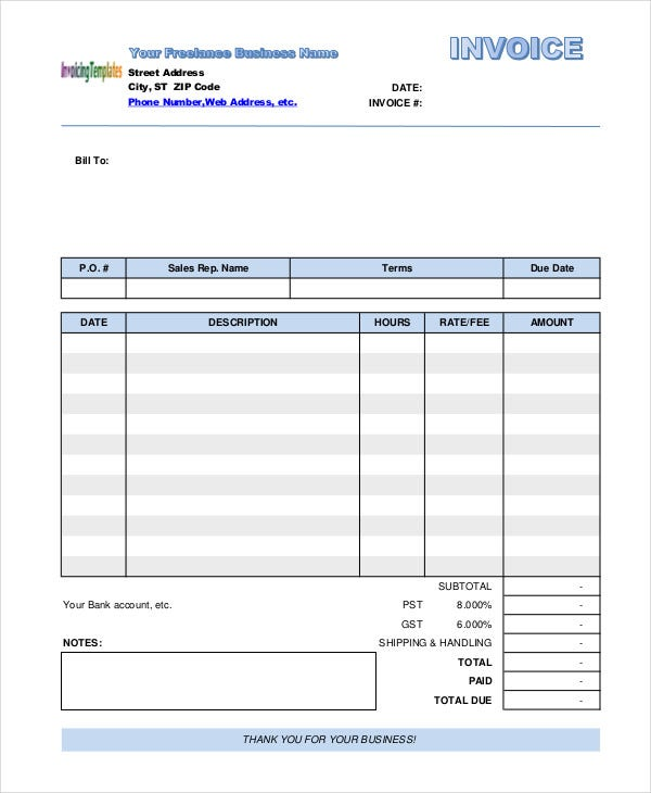 freelance job invoice1