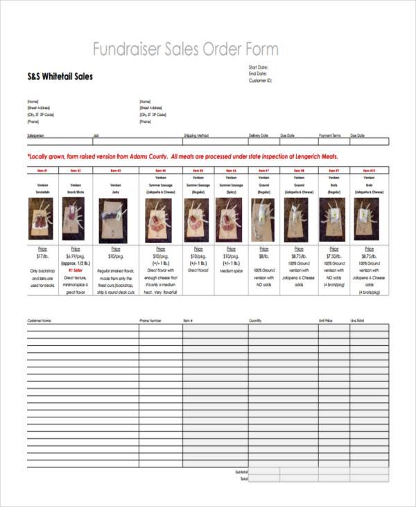 fundraiser sales order1