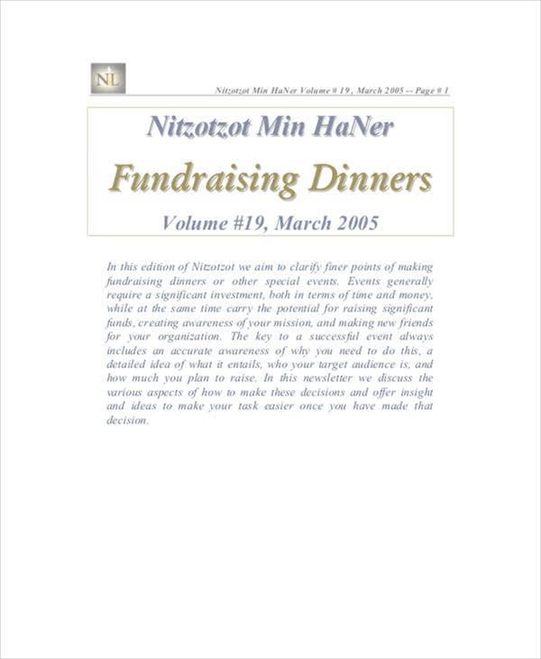 10 Fundraising Budget Templates Free Sample Example Format