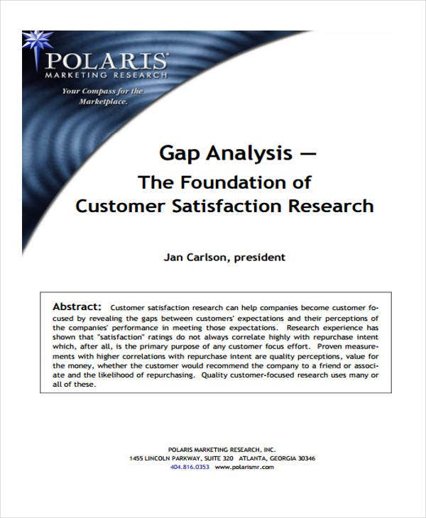 gap analysis for performance example
