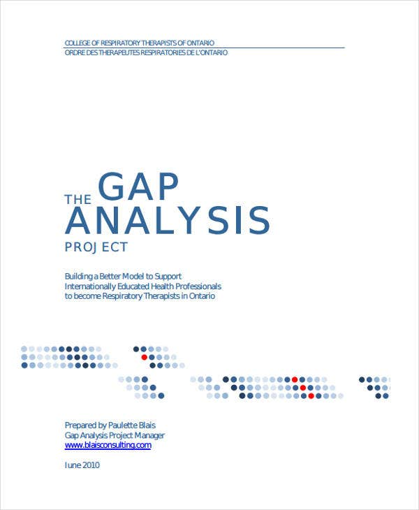 gap analysis for project sample