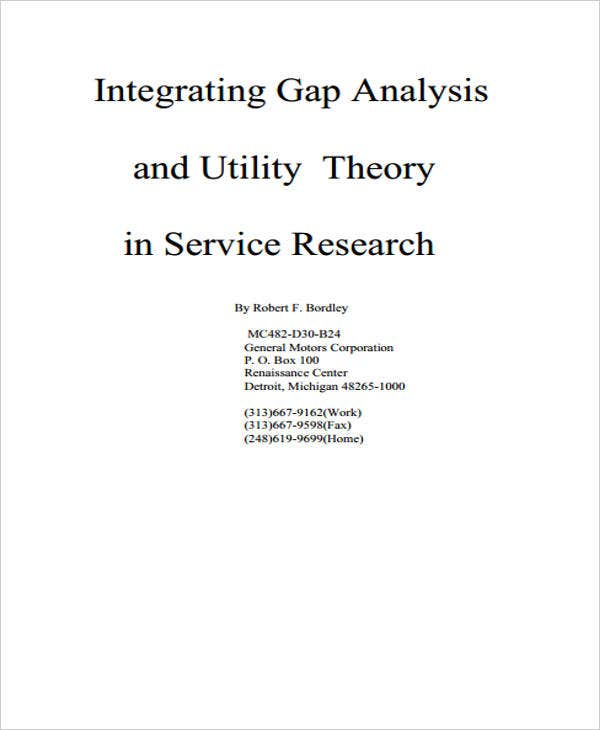 gap analysis for research service