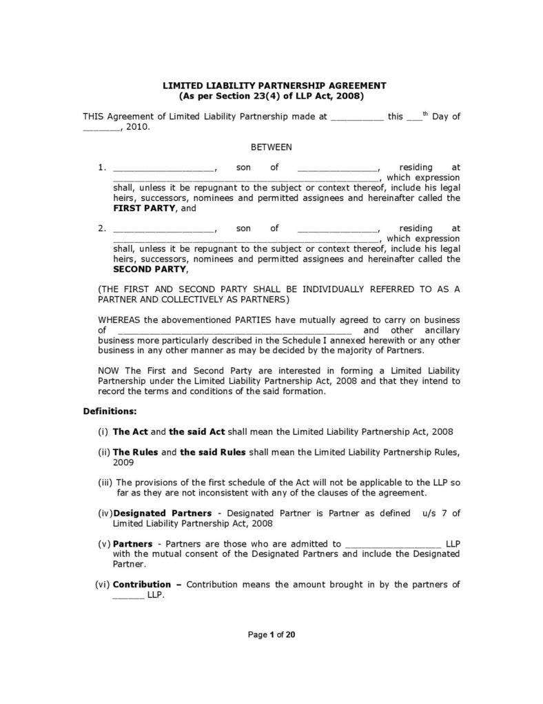 general-limited-liability-partnership-agreement-template-page-001