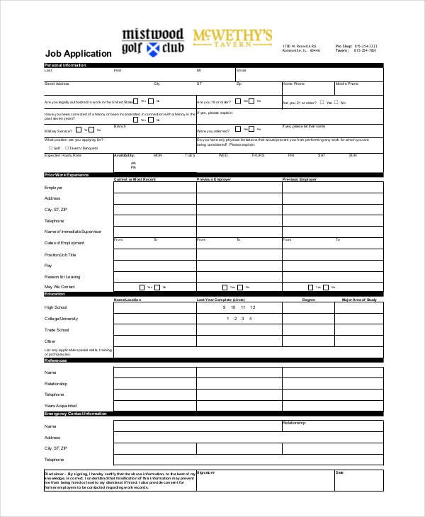 Generic Job Application Template  BesikEightyCo