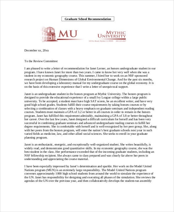 Recommendation Letter Sample For Master Degree from images.template.net