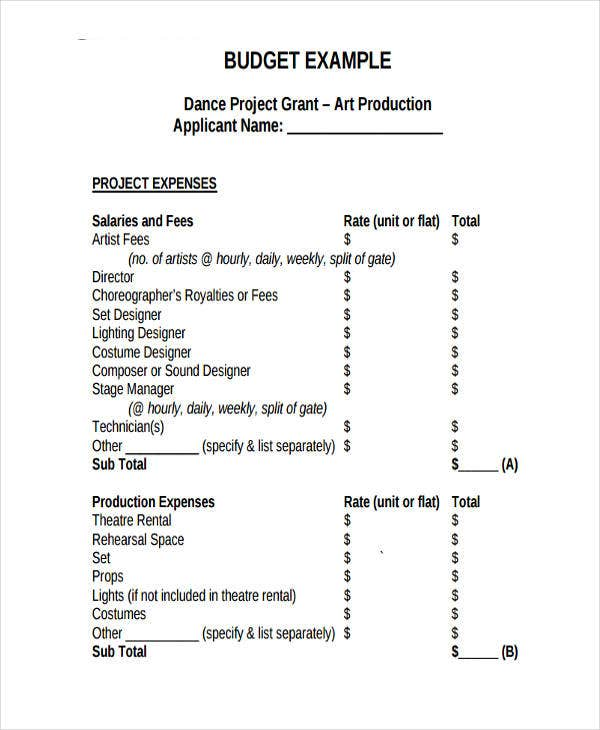 Advertising Budget Templates   Free Word Pdf Format Download