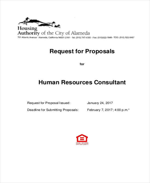 7 Hr Proposal Templates Free Sample Example Format Download