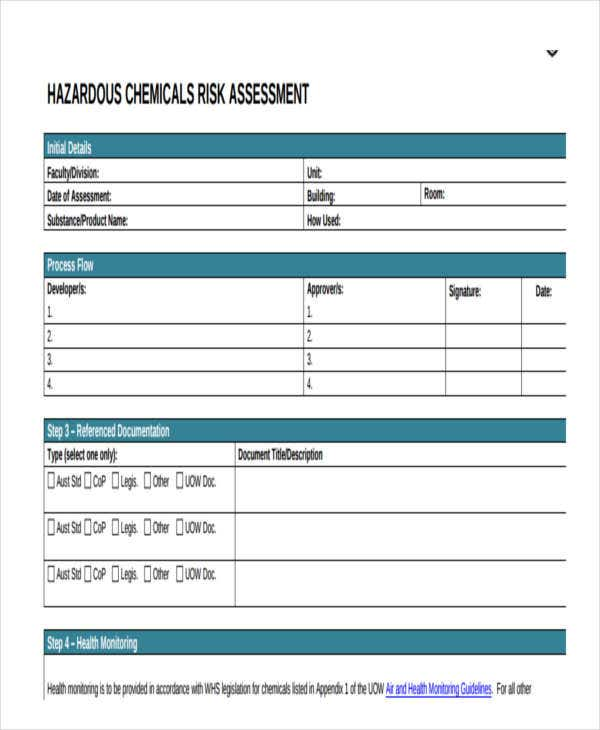 19 free risk assessment forms free premium templates for It rca template