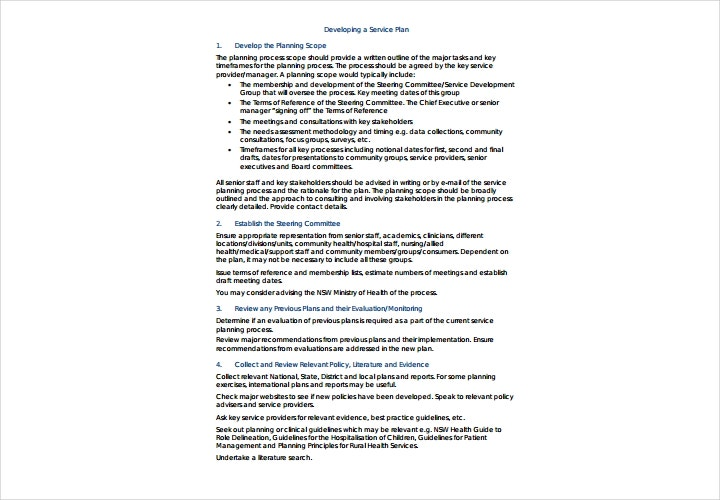 health service plan