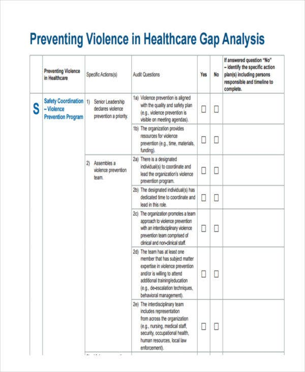 healthcare gap analysis pdf