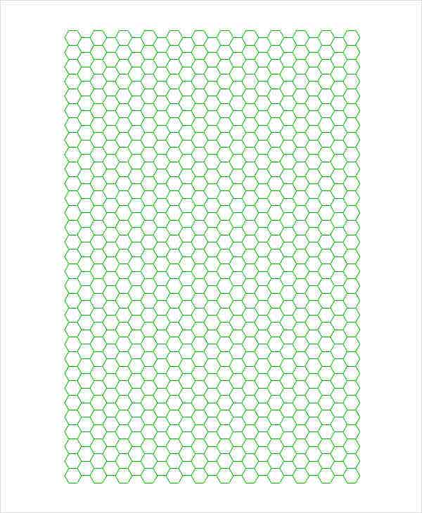 picture relating to Hex Paper Printable identified as Printable Graph Paper Templates - 10+ Absolutely free Samples, Illustrations