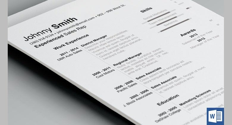 history-resume-template