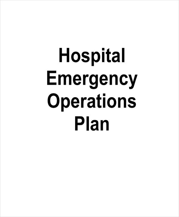 hospital emergency operations plan