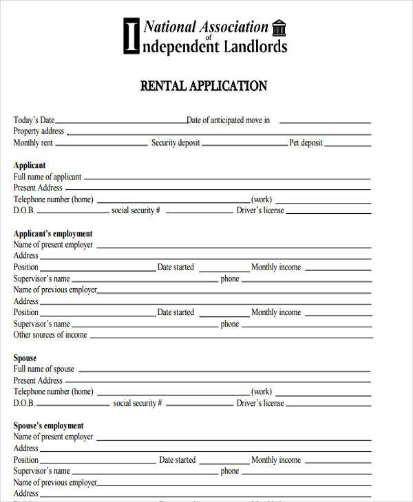 house rental contract
