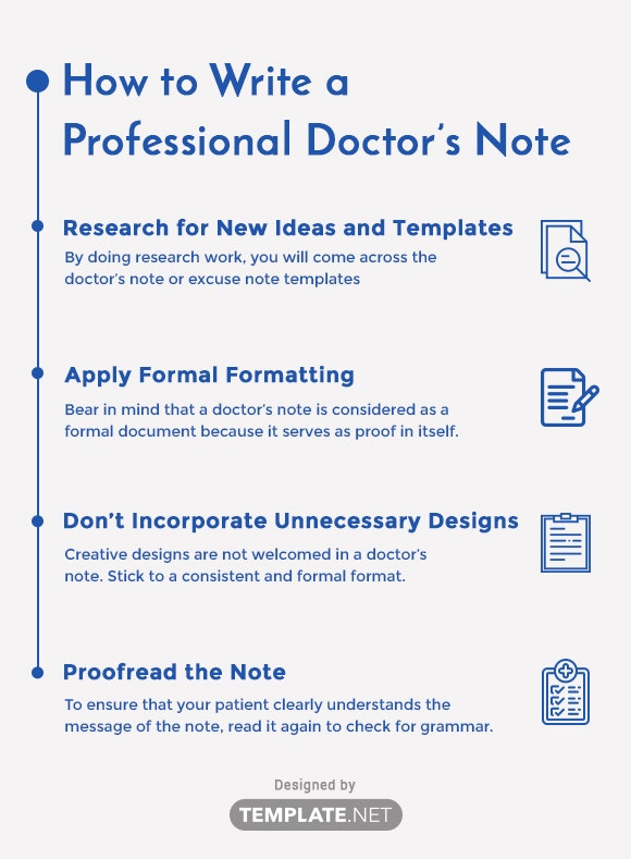 how to write a professional doctor's note