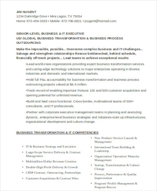 it executive resume format1