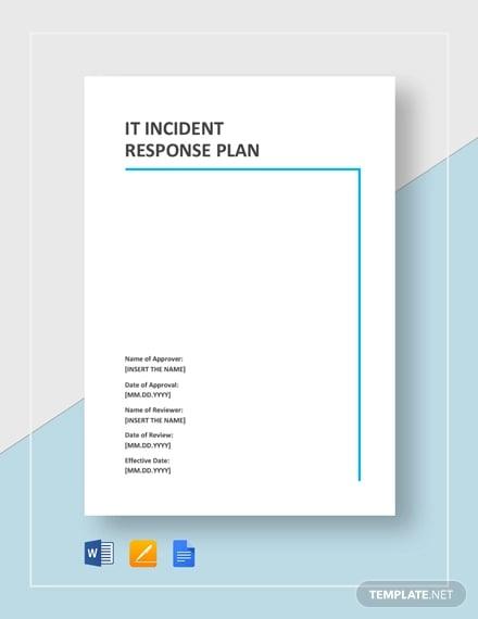 IT Incident Response Plan Template