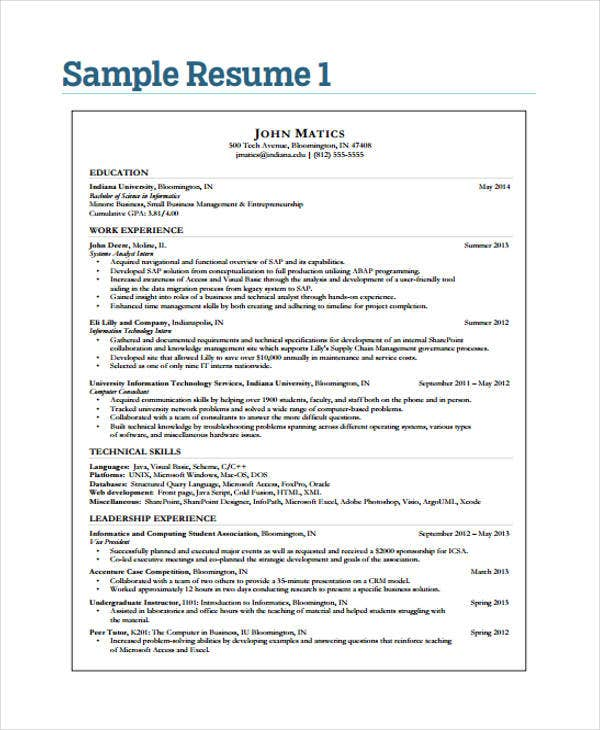 40  simple it resume templates