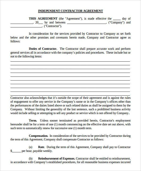 Printable Agreement Forms  Free  Premium Templates