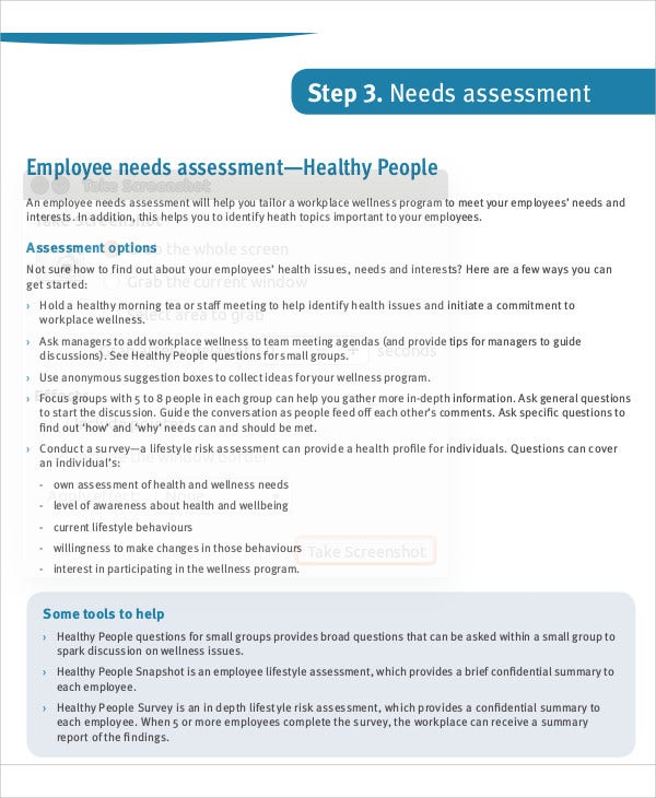 32  free needs assessment templates