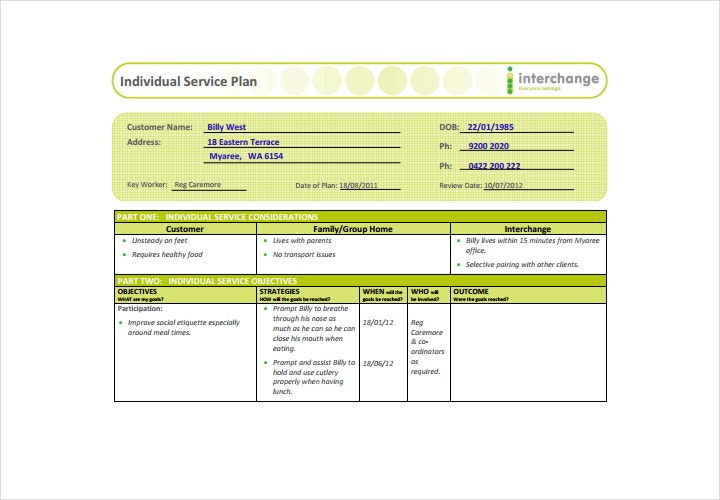 Best customer service strategy template photos resume for Client service plan template