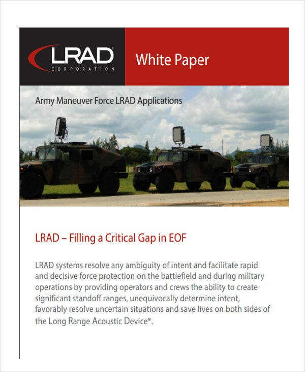 integrated army white paper2