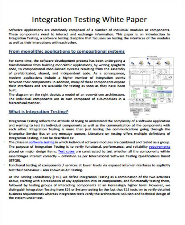 integration testing white paper