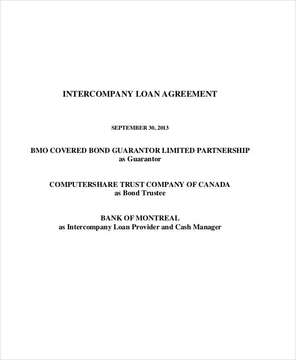 Inter Company Loan Agreement  Cash Loan Agreement