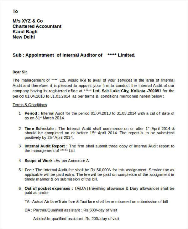 internal auditor appointment letter1