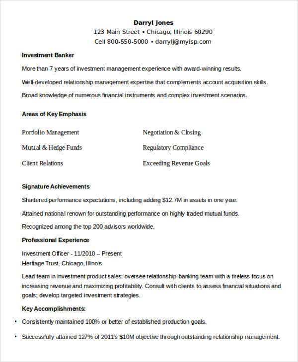 investment banking sales resume. Resume Example. Resume CV Cover Letter