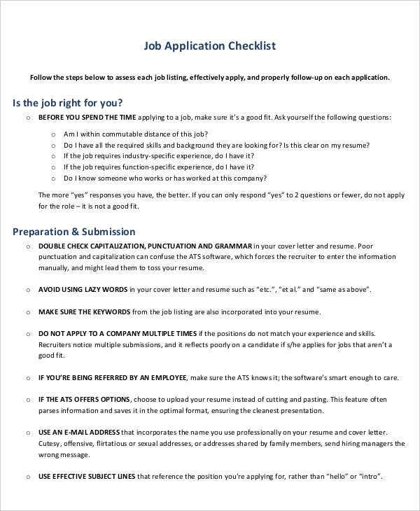 job application checklist2