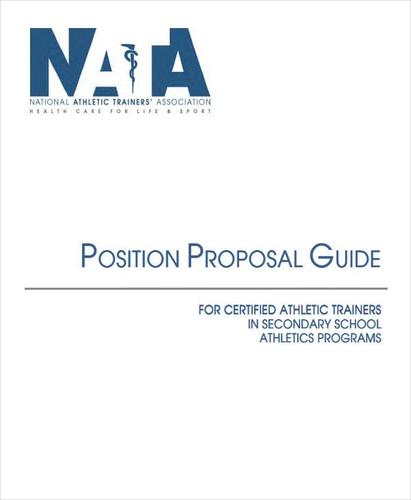job position proposal