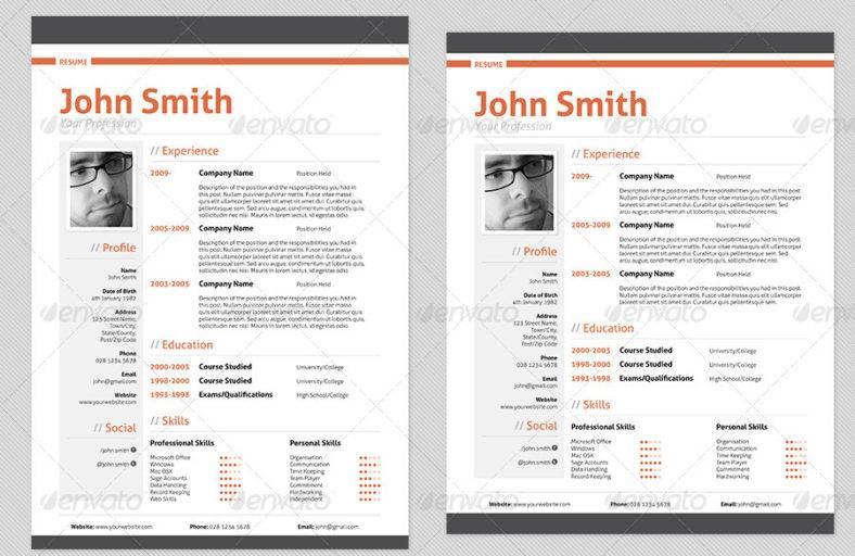 job professional resume 788x512