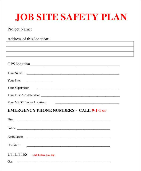 Job Site Safety Plan
