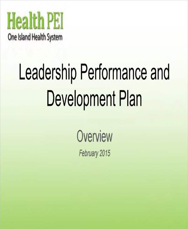 leadership performance development plan