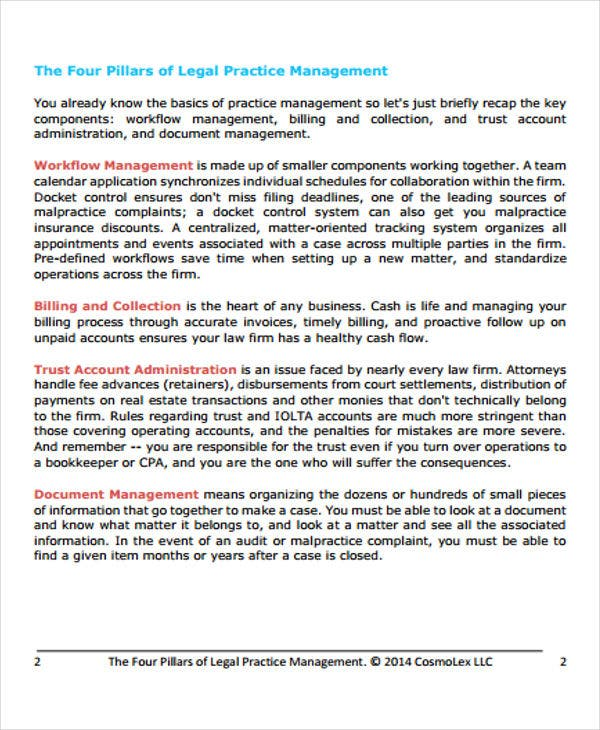 legal management white paper